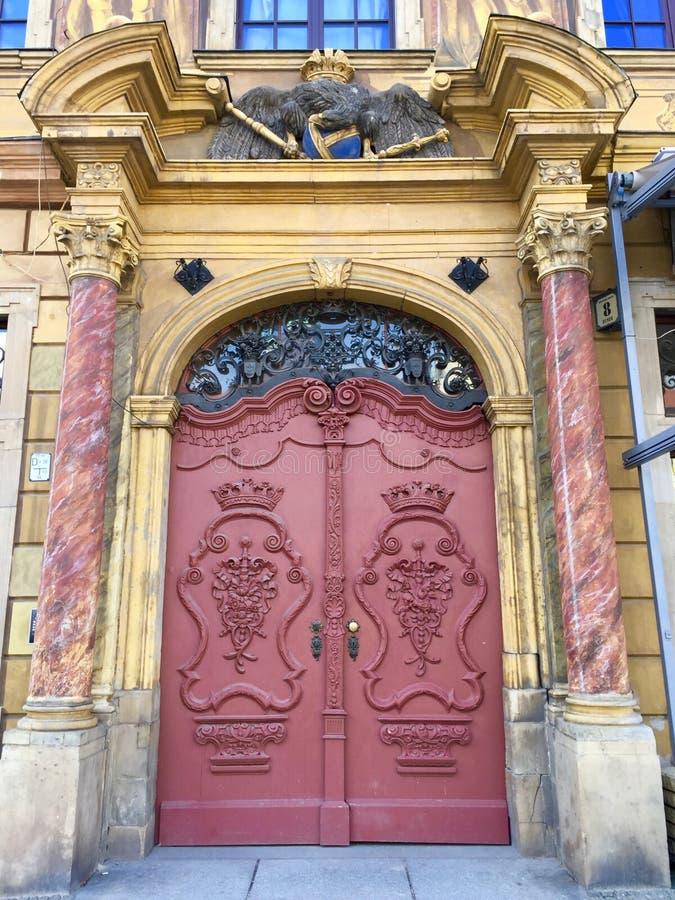 圣Elizabeth&#x27内部;s教会,天主教徒第三次圣弗朗西斯是一个哥特式教会在弗罗茨瓦夫,波兰 免版税库存图片