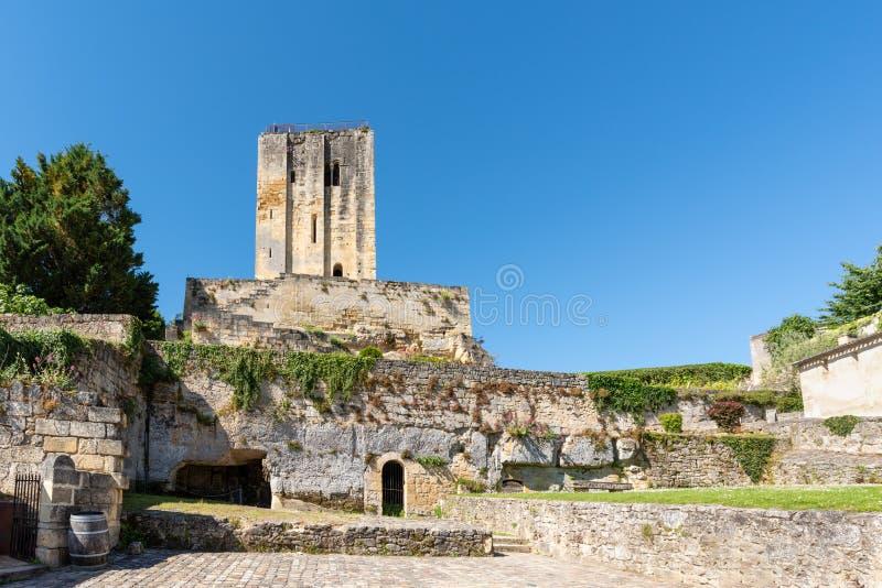 圣Emilion,在吉伦特省,法国:中世纪村庄 免版税库存照片