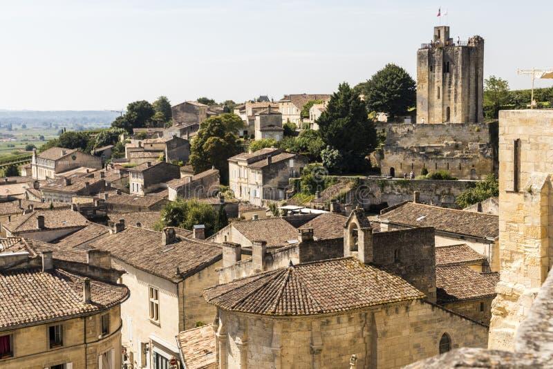 圣Emilion,法国全景  库存照片