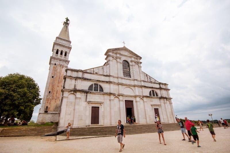 圣Euphemia大教堂教会在罗维尼 免版税图库摄影