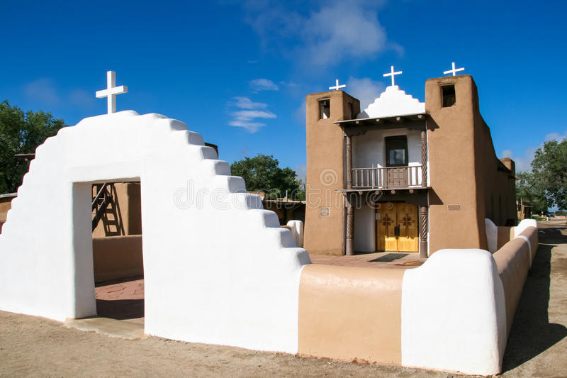 圣Geronimo教堂在Taos镇,美国 免版税库存照片