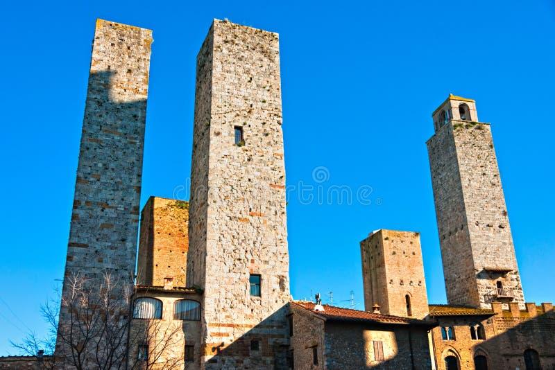 圣gimignano,托斯卡纳,意大利。 库存图片