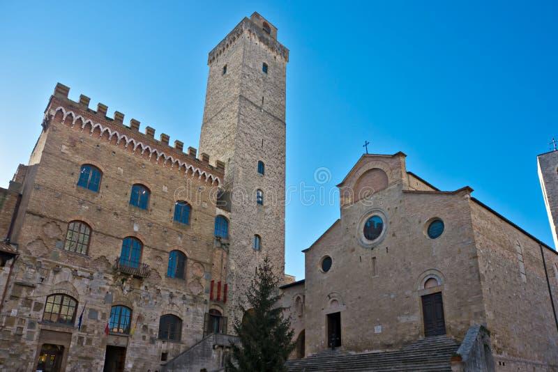 圣gimignano,托斯卡纳,意大利视图。 免版税库存图片
