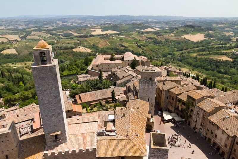圣Gimignano 库存照片