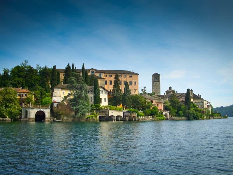 圣Giulio海岛 免版税库存图片