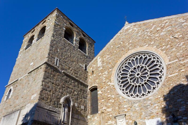 圣Giusto大教堂在的里雅斯特 免版税图库摄影