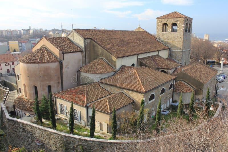圣Giusto大教堂的里雅斯特 免版税库存照片