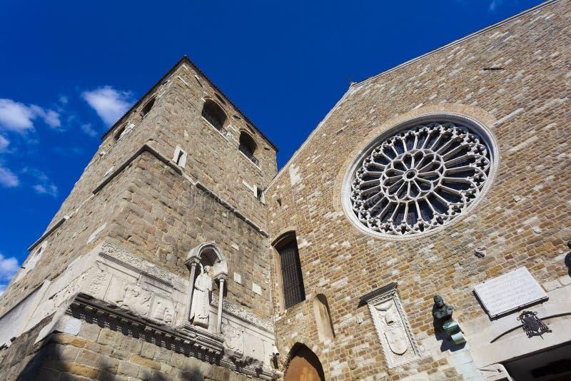 圣Giusto大教堂的里雅斯特 免版税图库摄影