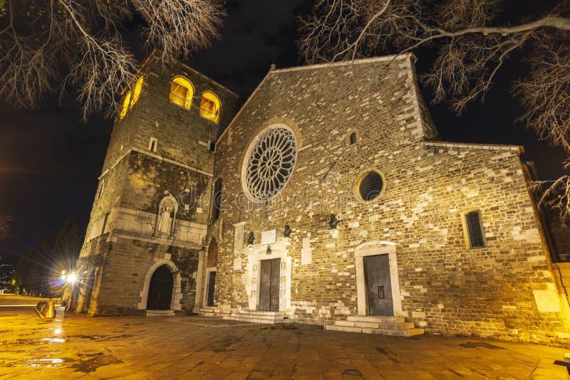 圣Giusto大教堂  免版税库存图片
