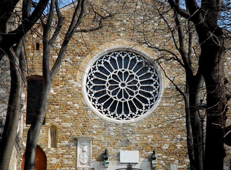 圣Giusto Martire大教堂在的里雅斯特在弗留利Venezia朱莉娅(意大利) 库存图片