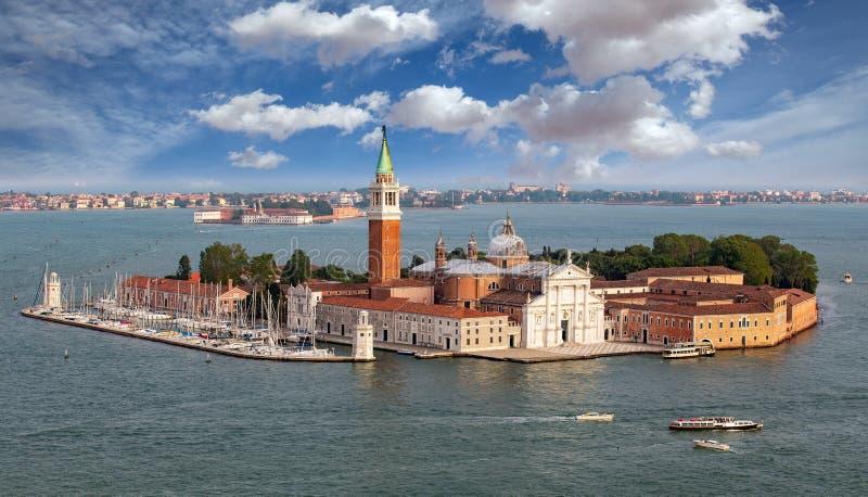圣Griorgio马吉欧雷海岛,威尼斯,意大利 免版税库存图片