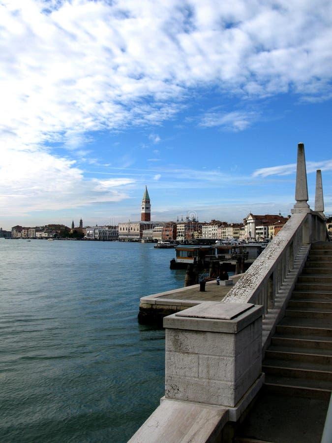 圣Marco广场看法在威尼斯,意大利 免版税库存照片