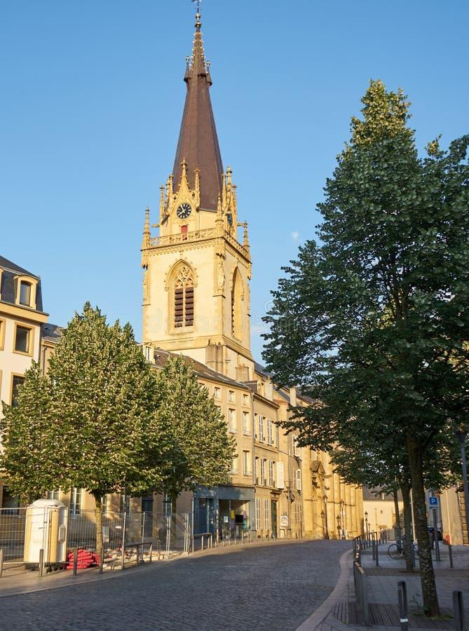 圣Martins教会梅茨洛林法国 免版税库存照片