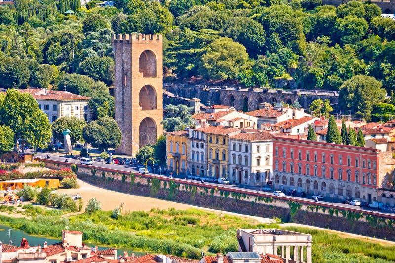 圣Niccolo塔亚诺河河江边的在佛罗伦萨 库存图片