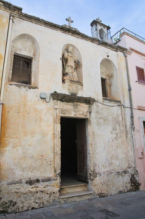 圣Nicola二巴里教会。加拉托内。普利亚。意大利。 库存图片