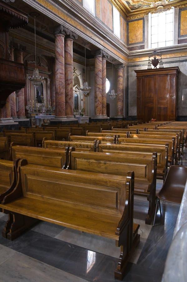 圣Nicola大教堂。卡斯泰拉内塔。普利亚。意大利。 免版税图库摄影