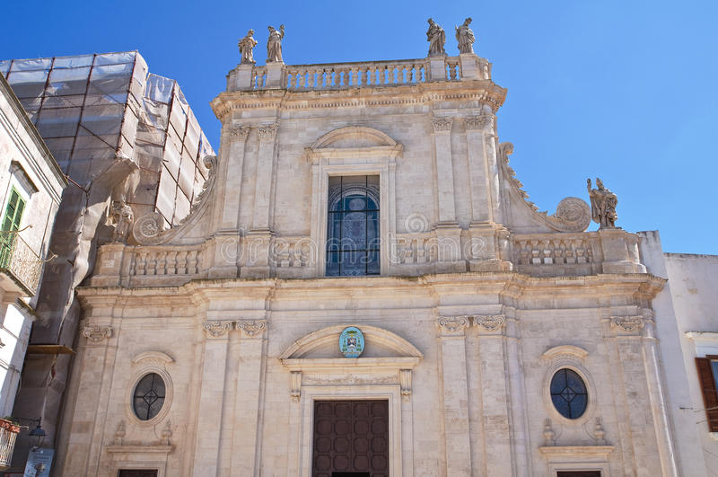 圣Nicola大教堂。卡斯泰拉内塔。普利亚。意大利。 免版税库存照片