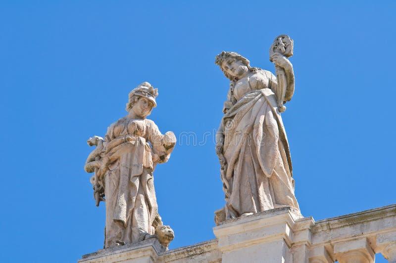 圣Nicola大教堂。卡斯泰拉内塔。普利亚。意大利。 免版税库存图片