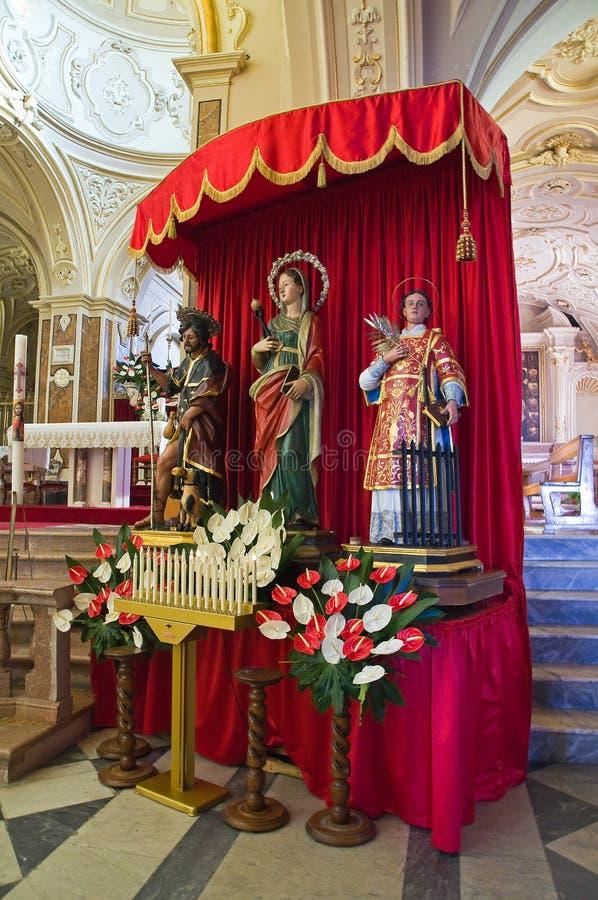 圣Nicola大教堂。Sant'Agata二普利亚。普利亚。意大利。 免版税库存照片