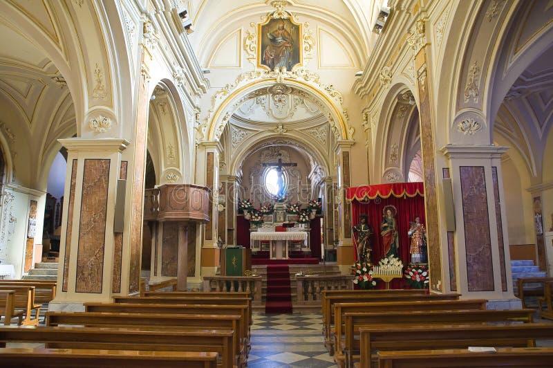 圣Nicola大教堂。Sant'Agata二普利亚。普利亚。意大利。 免版税图库摄影