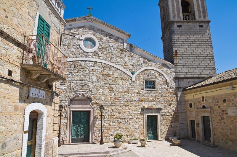 圣Nicola大教堂。Sant'Agata二普利亚。普利亚。意大利。 免版税库存图片