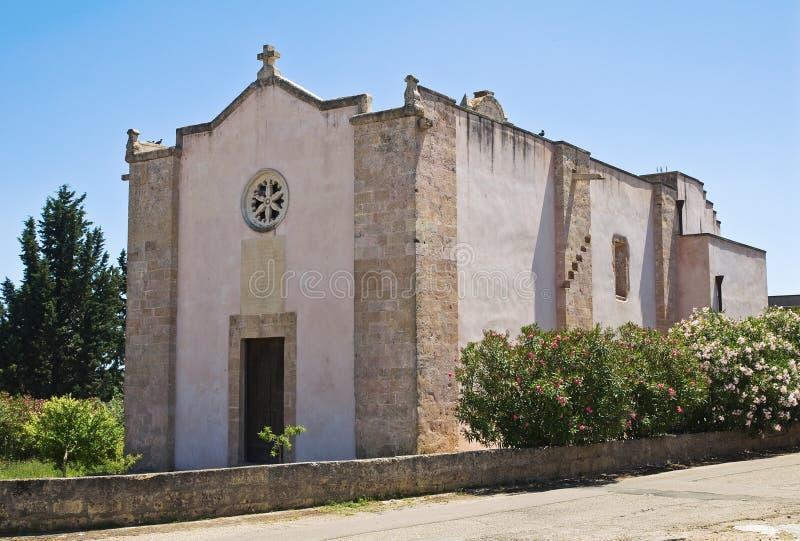 圣Nicola教会。斯佩基亚。普利亚。意大利。 免版税库存照片