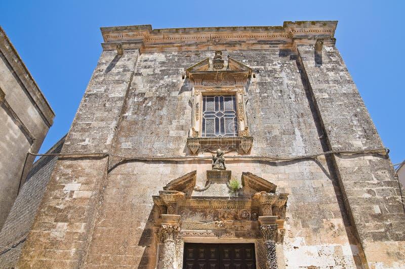 圣Nicola教会。Soleto。普利亚。意大利。 免版税库存照片