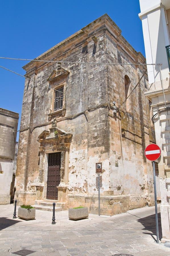 圣Nicola教会。Soleto。普利亚。意大利。 免版税库存图片