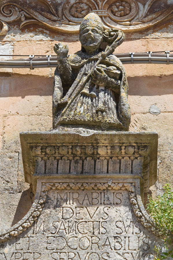 圣Nicola教会。Soleto。普利亚。意大利。 免版税图库摄影