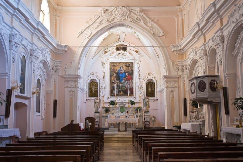 圣Nicola教会在Plateis。斯卡莱亚。卡拉布里亚。意大利。 免版税库存图片
