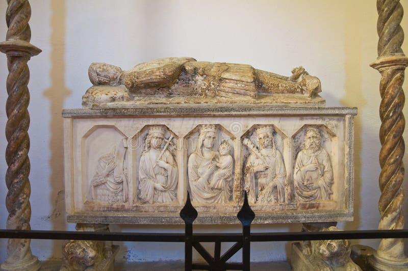 圣Nicola教会在Plateis。斯卡莱亚。卡拉布里亚。意大利。 图库摄影