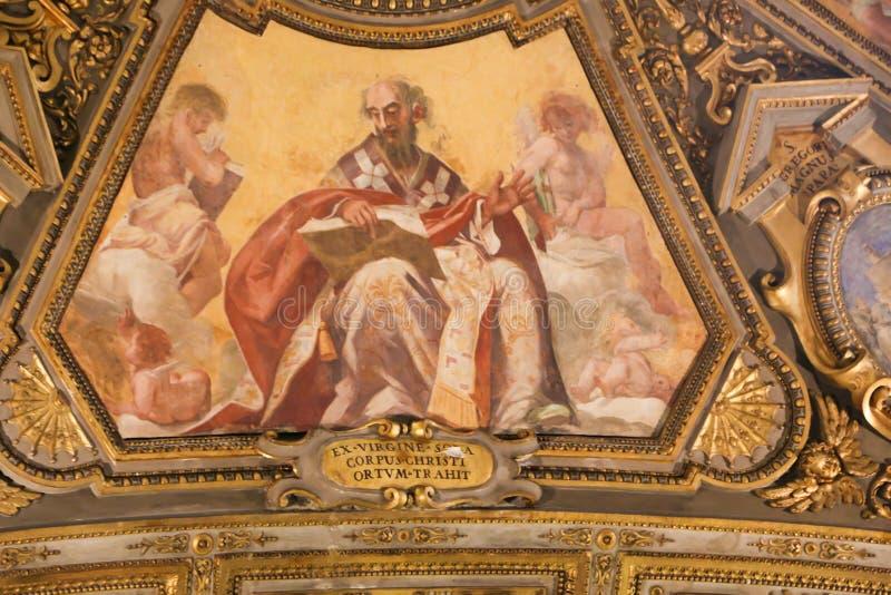 圣Petero大教堂,梵蒂冈艺术  库存图片