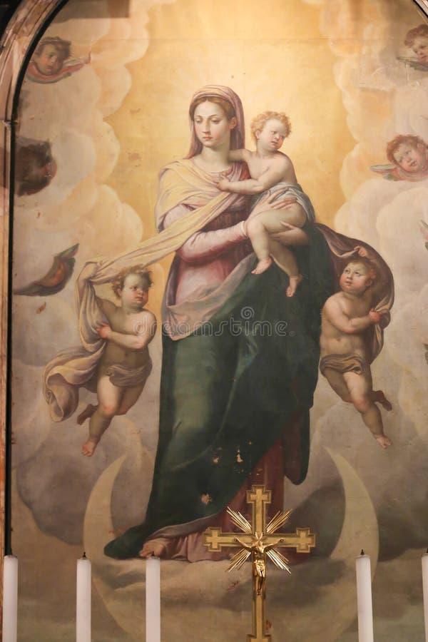 圣Petero大教堂-梵蒂冈圣母玛丽亚艺术  图库摄影