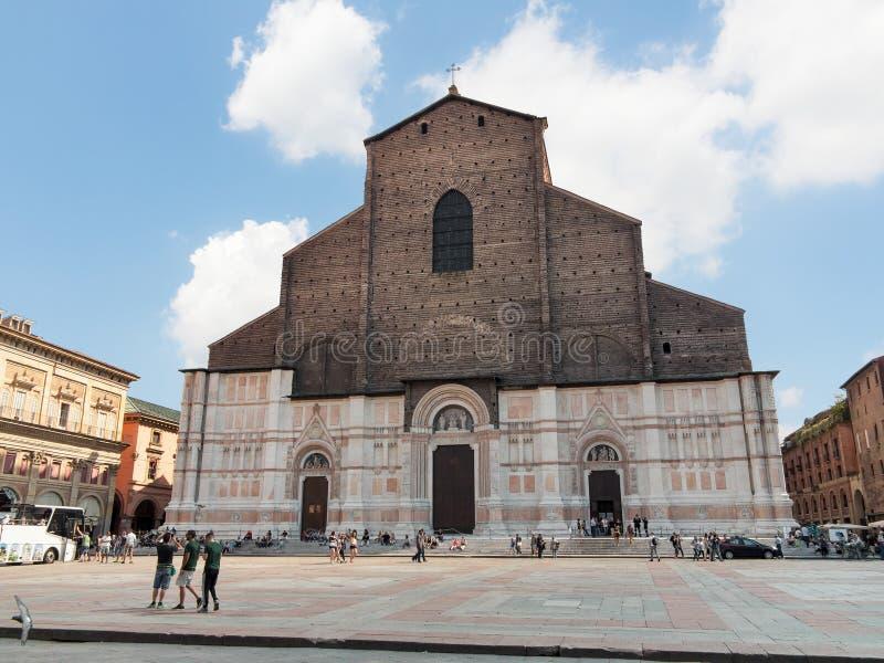圣petronio -波隆纳看法  图库摄影