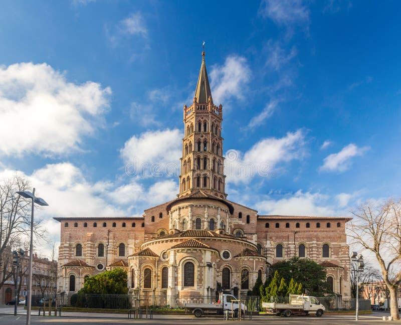 圣Sernin大教堂在图卢兹,法国 免版税图库摄影