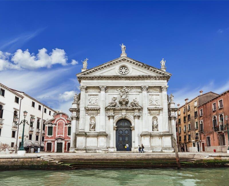 圣Stae教会在三塔Croce,威尼斯区, 免版税库存图片