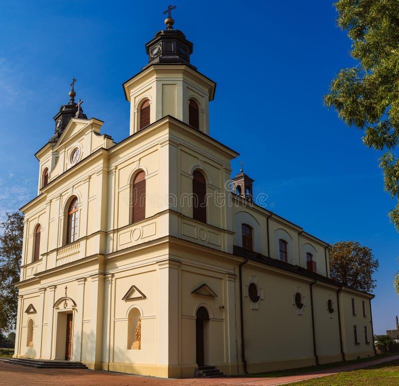 圣Stanislaus教区在Zbuczyn,波兰 免版税库存照片