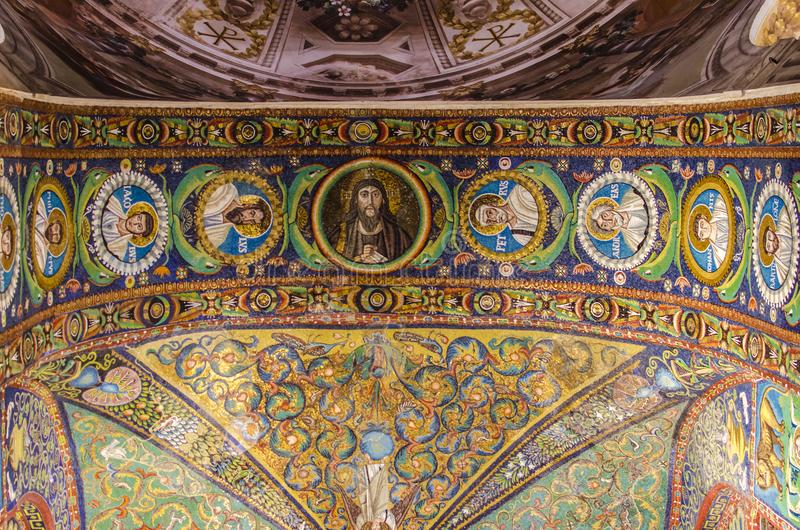 圣Vitale大教堂在拉韦纳,意大利 免版税库存图片