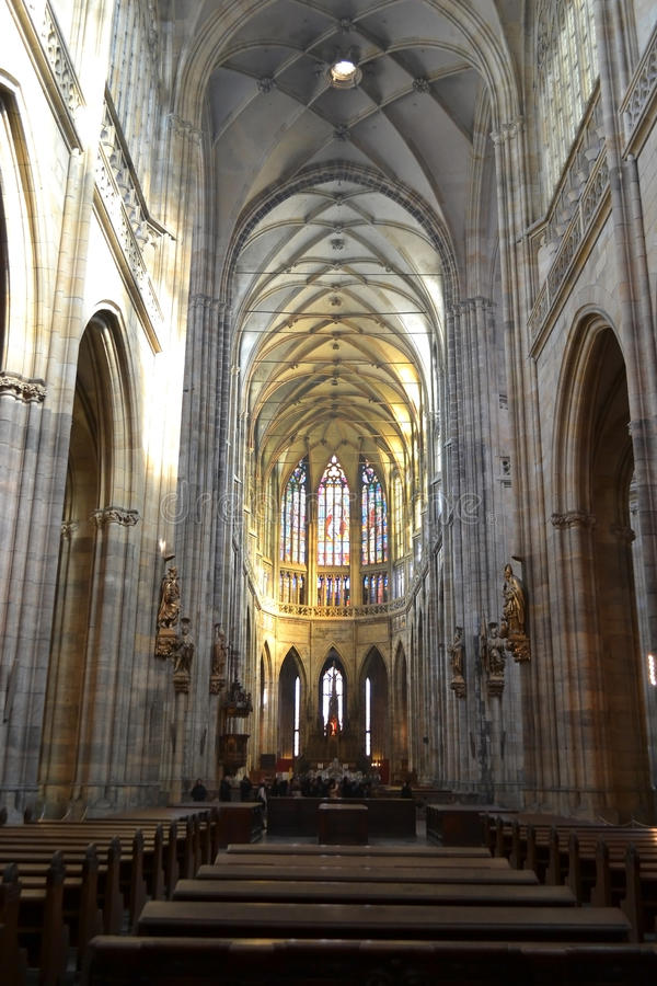 圣Vitus大教堂内部  库存照片