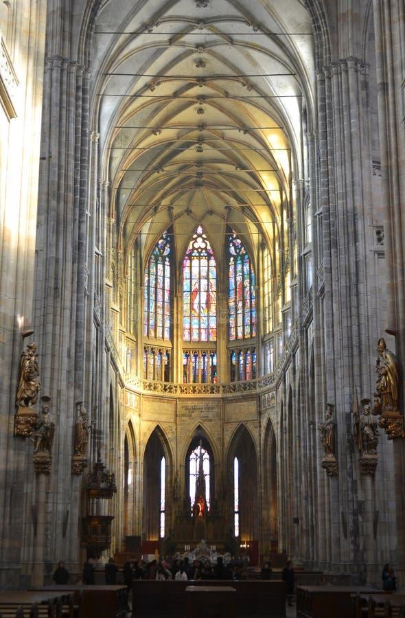 圣Vitus大教堂内部  库存图片