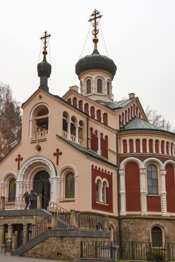 圣Vladimir东正教教会在Mariansk 免版税图库摄影
