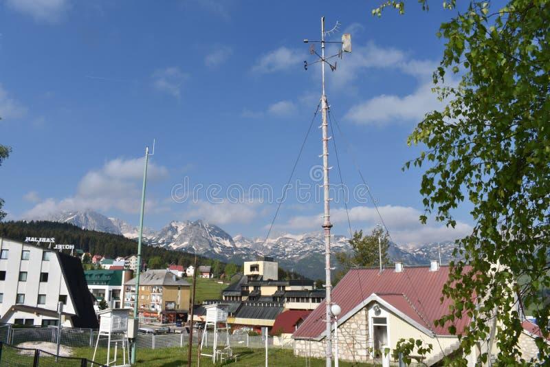在Å ½ abljak的气象站 免版税库存图片