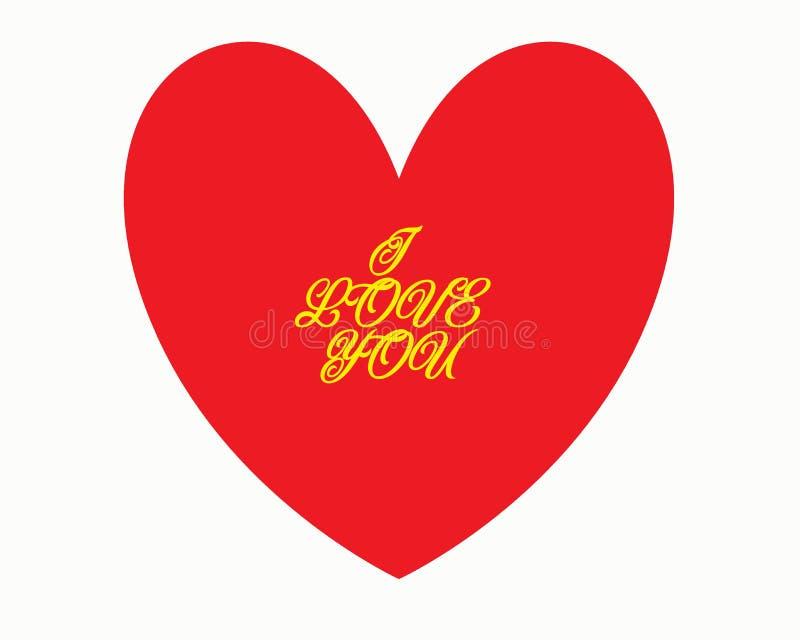 在'我爱你'书法字体上写字,手图画 单独字体 r 扭转的题字 向量例证