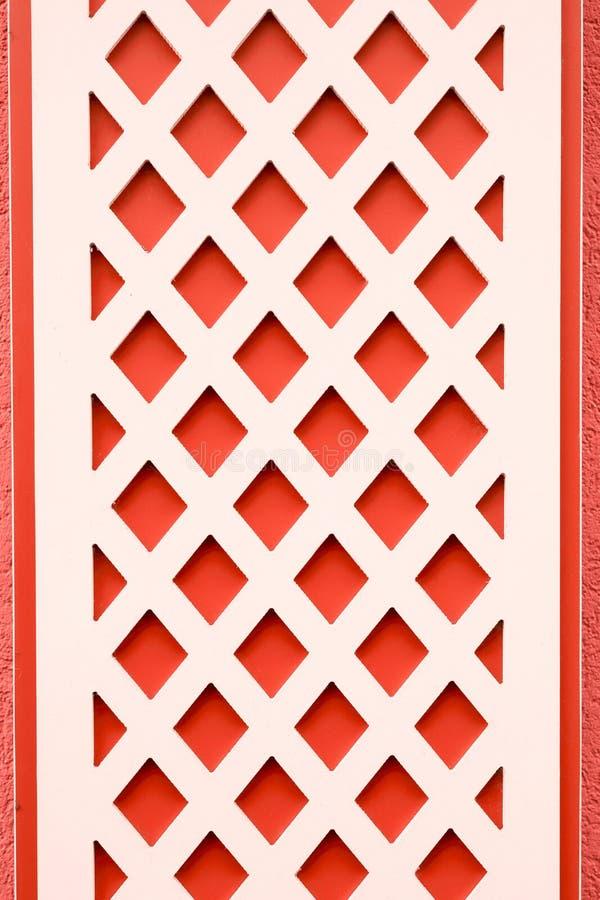 在一个修造的门面的几何装饰样式 免版税库存图片