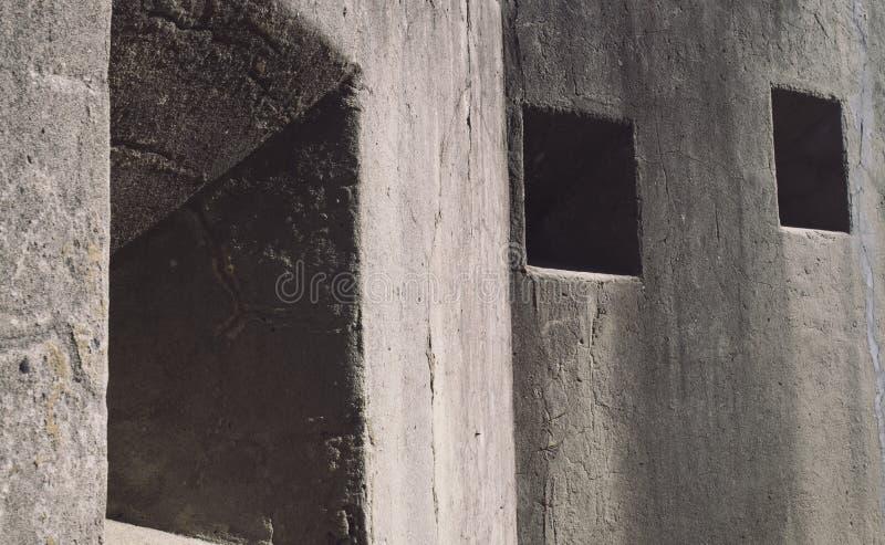在一个军事堡垒的发射孔 免版税图库摄影
