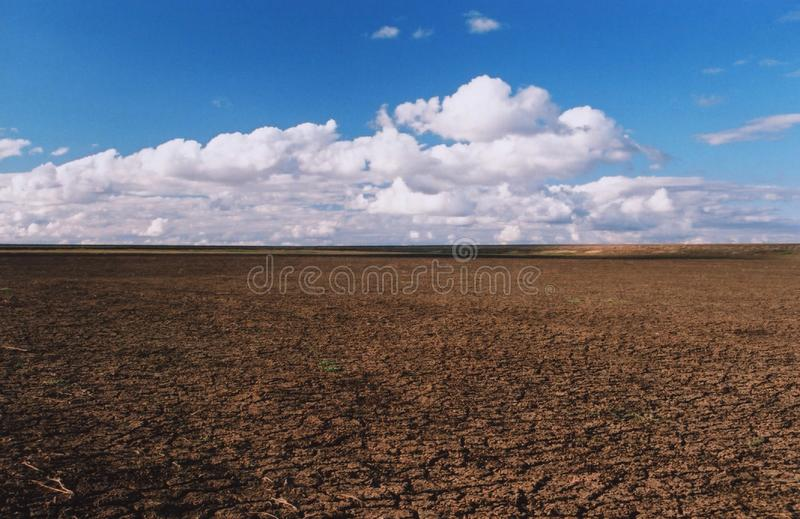 在一个农村农场的干燥水坝在澳大利亚 图库摄影