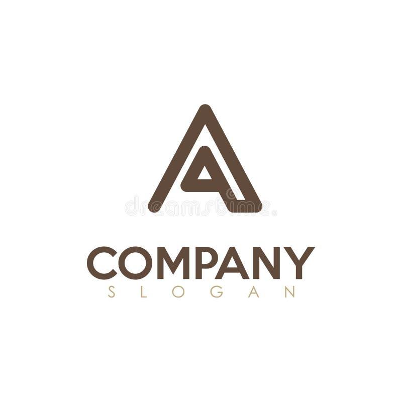 在一个商标,简单的企业上写字 向量例证