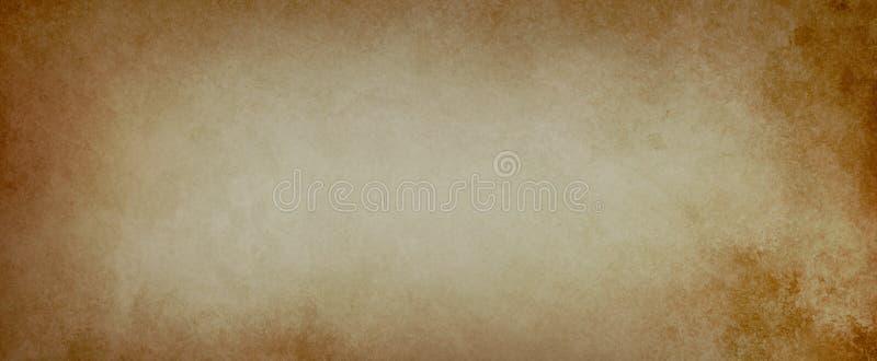 在一个困厄的纸纹理例证的老棕色背景与葡萄酒难看的东西 库存图片