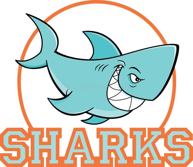 在一个圈子里面的动画片鲨鱼与鲨鱼文本 向量例证