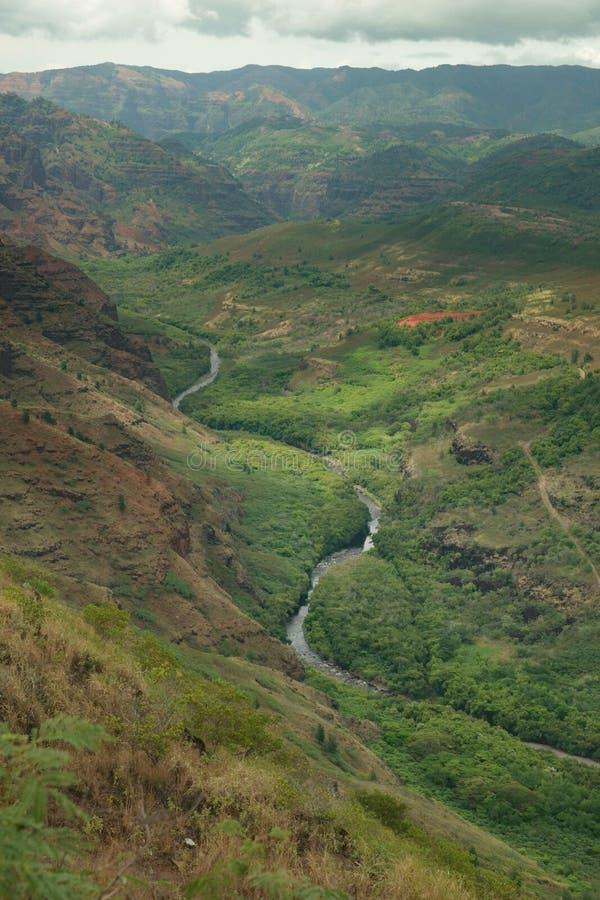 在一个夏日期间, Waimea考艾岛,夏威夷,美国河谷  库存照片